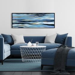 Framed 16 x 48 - Blue sweep