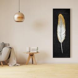 Framed 16 x 48 - Golden feather