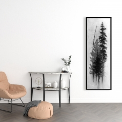 Framed 16 x 48 - Silhouette of trees