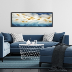 Framed 16 x 48 - Abstract landscape