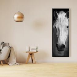 Framed 16 x 48 - Monochrome horse