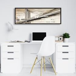Framed 16 x 48 - City brige
