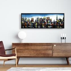 Framed 16 x 48 - Colorful skyline