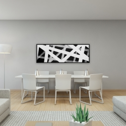 Framed 16 x 48 - Geometric stripes