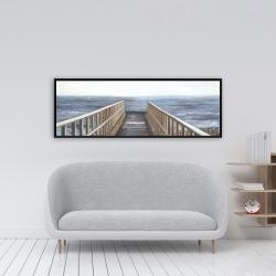 Framed 16 x 48 - Relaxing beach