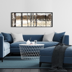 Framed 16 x 48 - Winter swamp