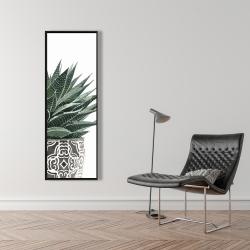 Framed 16 x 48 - Zebra plant succulent