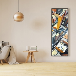 Framed 16 x 48 - High top view of buildings in new york
