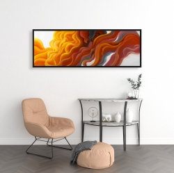 Framed 16 x 48 - Colorful smoke