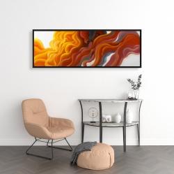 Framed 16 x 48 - Colorful smoke