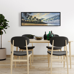 Framed 16 x 48 - Tropical summer moments