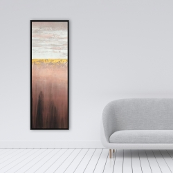 Framed 16 x 48 - Golden pink