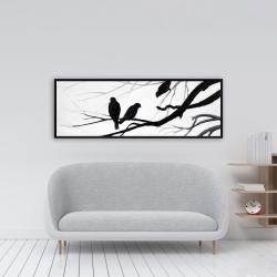 Framed 16 x 48 - Silhouette of birds