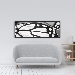 Framed 16 x 48 - Butterfly wings closeup
