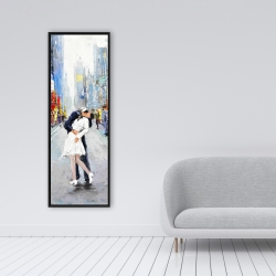 Framed 16 x 48 - Kiss of times square