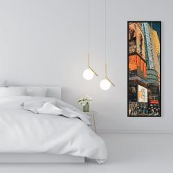 Framed 16 x 48 - Illuminated new york city street