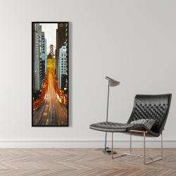 Framed 16 x 48 - San francisco by night