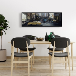 Framed 16 x 48 - In the city