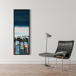 Framed 16 x 48 - Bird's eye view of beach