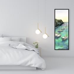 Framed 16 x 48 - Boats in cala macarella