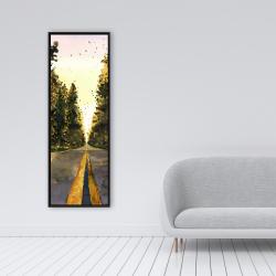 Framed 16 x 48 - Long road