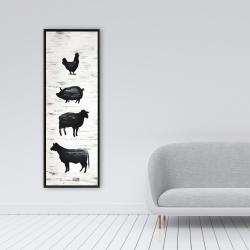 Framed 16 x 48 - Farm animals