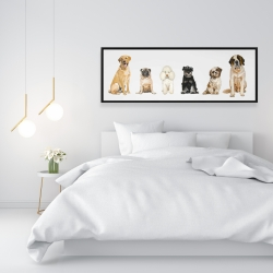 Framed 16 x 48 - Man's best friend