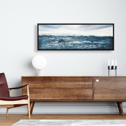 Framed 16 x 48 - Glaciers in iceland