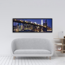 Framed 16 x 48 - City at night