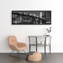 Framed 16 x 48 - City under the night