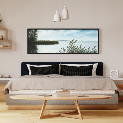 Framed 16 x 48 - Quiet lake