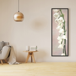 Framed 16 x 48 - Lily of the valley flowers