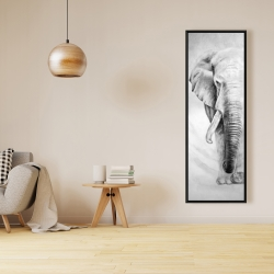 Framed 16 x 48 - Great elephant