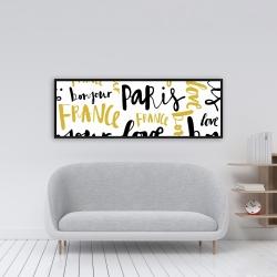 Framed 16 x 48 - Bonjour paris