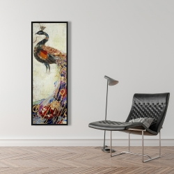 Framed 16 x 48 - Majestic peacock