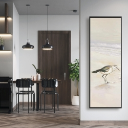 Framed 16 x 48 - Semipalmated sandpiper on the beach