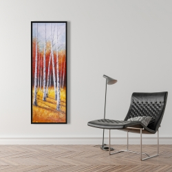 Framed 16 x 48 - Fall forest landscape