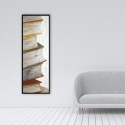 Framed 16 x 48 - Mountain of vintage books