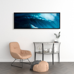 Framed 16 x 48 - Unleashed sea