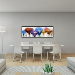 Framed 16 x 48 - Colorful flowers