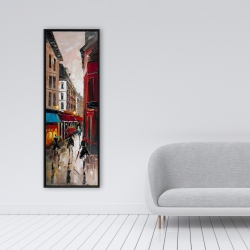 Framed 16 x 48 - European alley