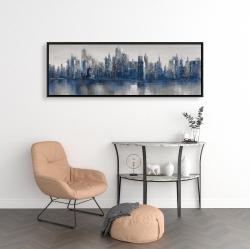 Framed 16 x 48 - Melancholy city