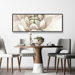 Framed 16 x 48 - Delicate chrysanthemum