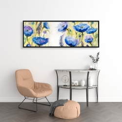Framed 16 x 48 - Blue garden