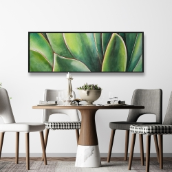Framed 16 x 48 - Watercolor agave plant