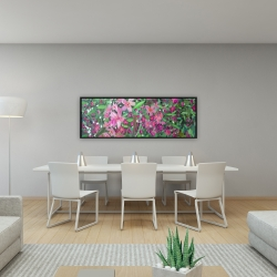 Framed 16 x 48 - Cherry tree blooming