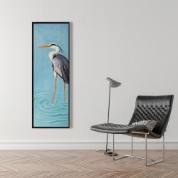 Framed 16 x 48 - Grey heron