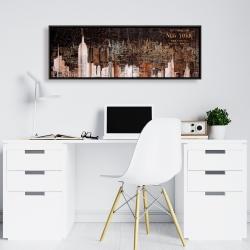 Framed 16 x 48 - The empire city of newyork