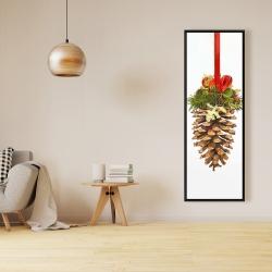 Framed 16 x 48 - Christmas pine cone