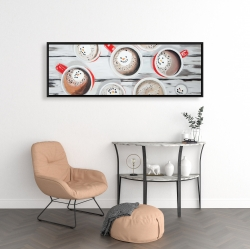 Framed 16 x 48 - Holiday hot chocolate